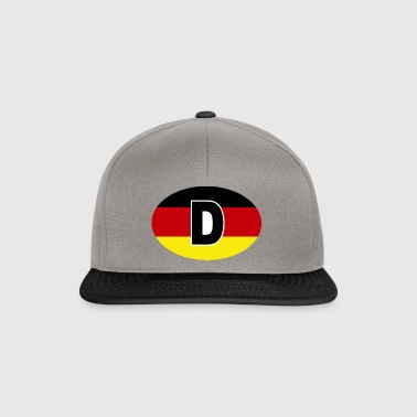 GERMANY Sticker Flag black-red-gold - Snapback Cap