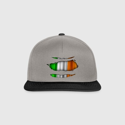 Ireland flag torn 017 - Snapback Cap