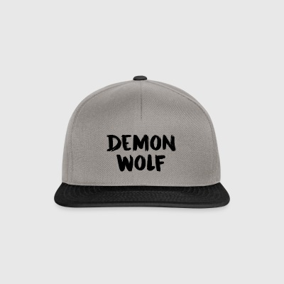 Demon Wolf Text Design Sort - Snapback Cap