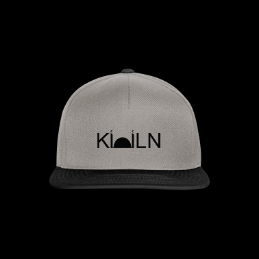 Logo Mosque Cologne painted black on white - Snapback Cap