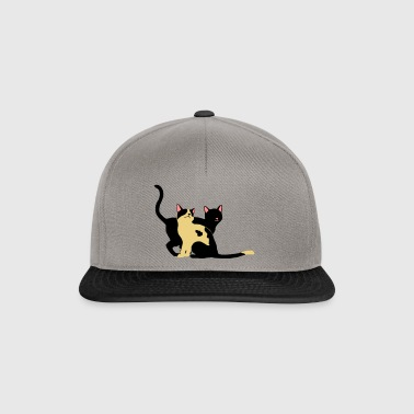 2 chats - Casquette snapback