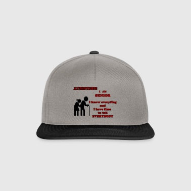 Attention, senior - Snapback Cap