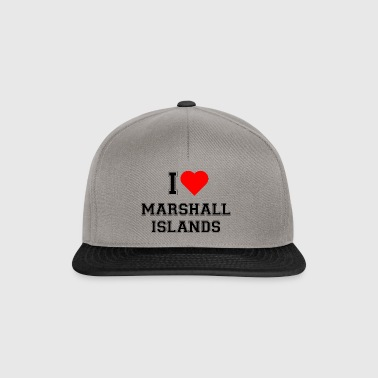 I love Marshall Islands - Snapback Cap