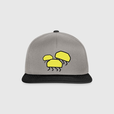 Three jellyfish - Snapback Cap