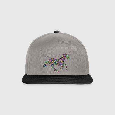 unicorn galloping - Snapback Cap