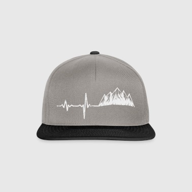 Gift heartbeat mountains white - Snapback Cap