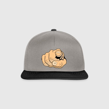 index finger - Snapback Cap
