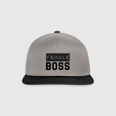 female boss - Snapback Cap