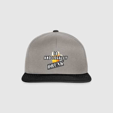 Legally drunk (White) - Snapback Cap