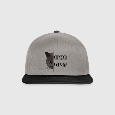 chat caché - Casquette snapback