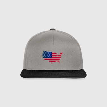 United States map - Snapback Cap