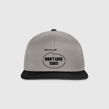 Note to Self - Snapback Cap