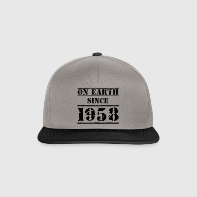 On Earth siden 1958 60th Birthday Happy Birthday! - Snapback-caps