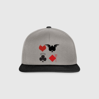 Playing Cards Angel Devil Poker Gift - Snapback Cap