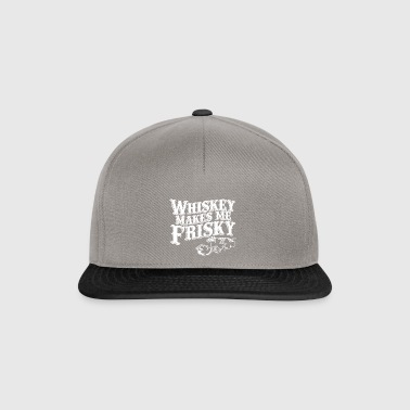 whiskey makes me friskey - Snapback Cap