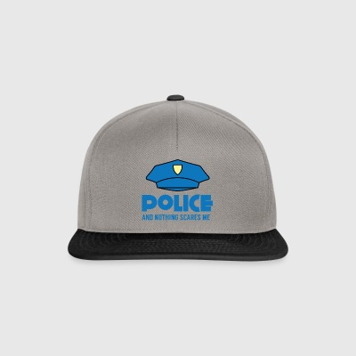 Police: Police And Nothing Scares Me - Snapback Cap