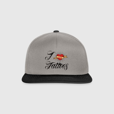 Tattoo / Tätowierung: I Love Tattoos - Snapback Cap