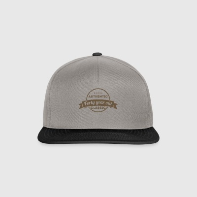 40th Birthday: Authentic - Forty Year Old - Class - Snapback Cap