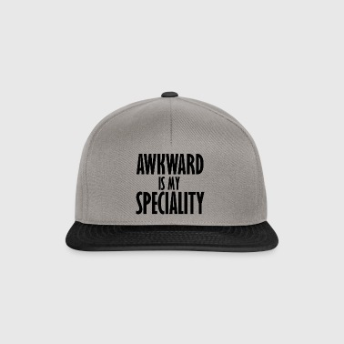 awkward is my speciality - Snapback Cap