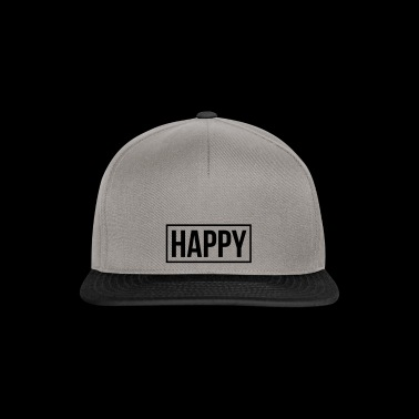 happy - Snapback Cap