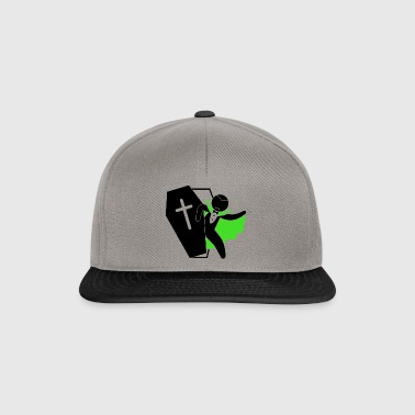 The Vampire Count Dracula Sleeps In A Coffin - Snapback Cap