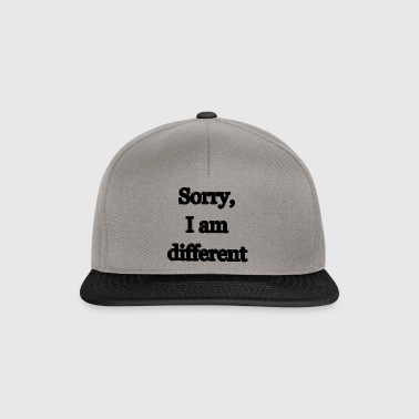 Sorry, I am different - Snapback Cap
