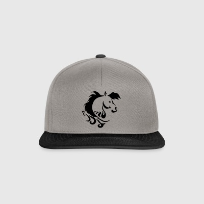 Tribal pony horse design - Snapback Cap