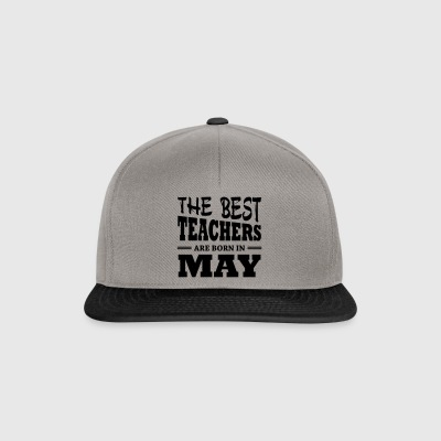 The best teachers are born in may - Snapback Cap