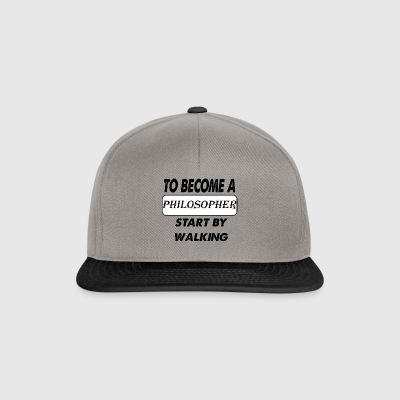 to become a philosopher - Snapback Cap