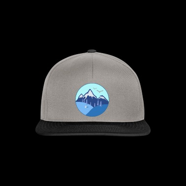Vinter fjell gave firs eagle snowman - Snapback-caps