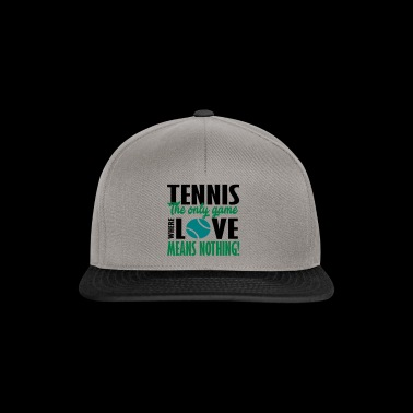 tennis the only game - Snapback Cap