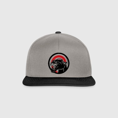 BLACK ANIMAL JUNGLE WILD CAT - Snapback Cap