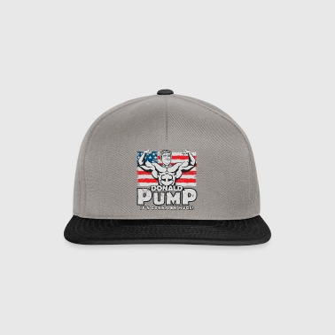 Donald Pump Flag Color - Snapback Cap