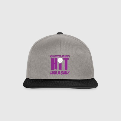 Volleyball hit like a girl - Snapback Cap