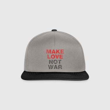 Make love not war Frieden - Snapback Cap