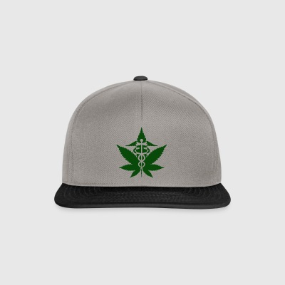Caduceus in Grass - Snapback Cap