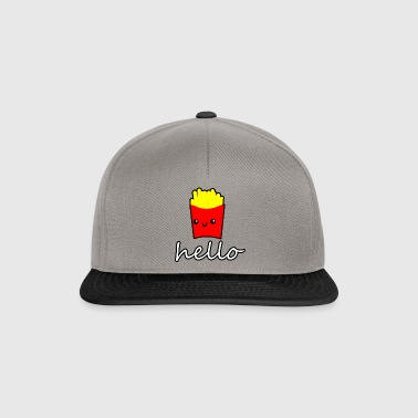 doodle fries hello cute anime style - Snapback Cap