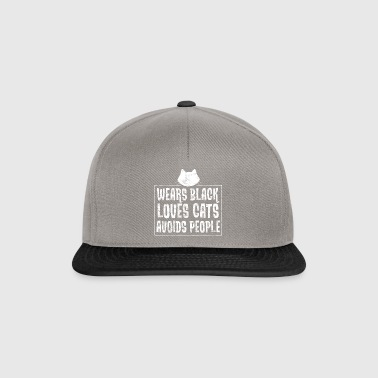 Wear black - dear cats - avoid people - Snapback Cap