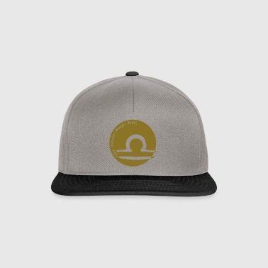 Zodiac Libra (Libra) with text - Snapback Cap