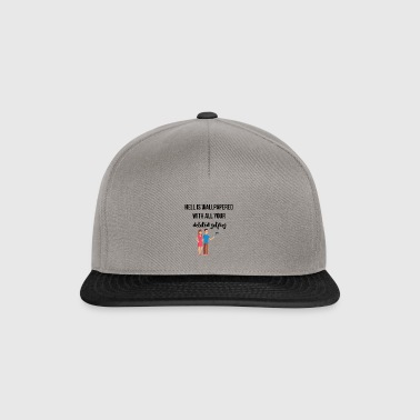 Wallpapered hell - Snapback Cap