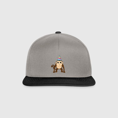 Monkey with hat! - Snapback Cap