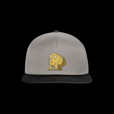 Triceratops Dino gift idea children kid cute - Snapback Cap