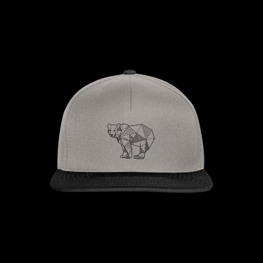Bear geometric lines gift idea animal bear - Snapback Cap