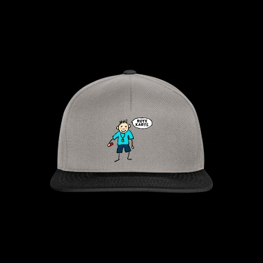 Stick Figure Football Referee - Rode kaart - Snapback cap