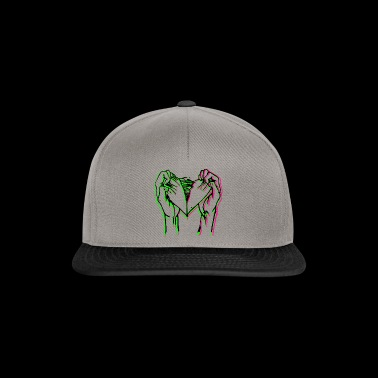 Torn heart three colors - Snapback Cap