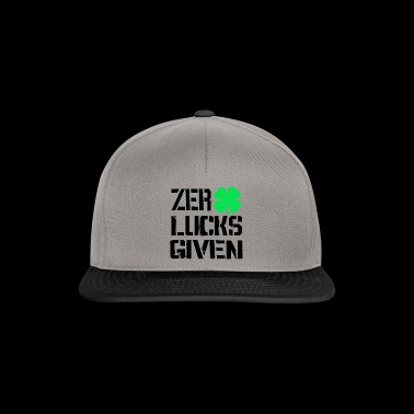 Zero Lucks Given Shamrock Ireland Tee Shirt - Snapback Cap
