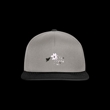 Hummingbird and cherry blossom - Snapback Cap