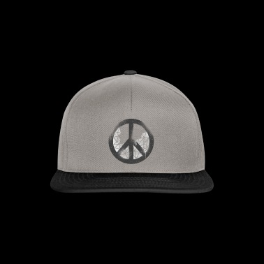 Peace in grunge style - Snapback Cap