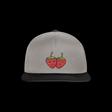 Strawberries best friends gift in love couple - Snapback Cap