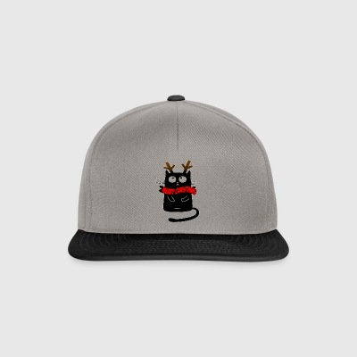 Christmas cat reindeer - gift idea madness - Snapback Cap